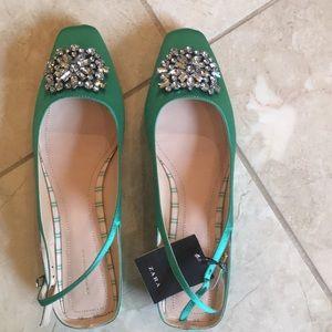 Zara slingback sandals ,Size 9